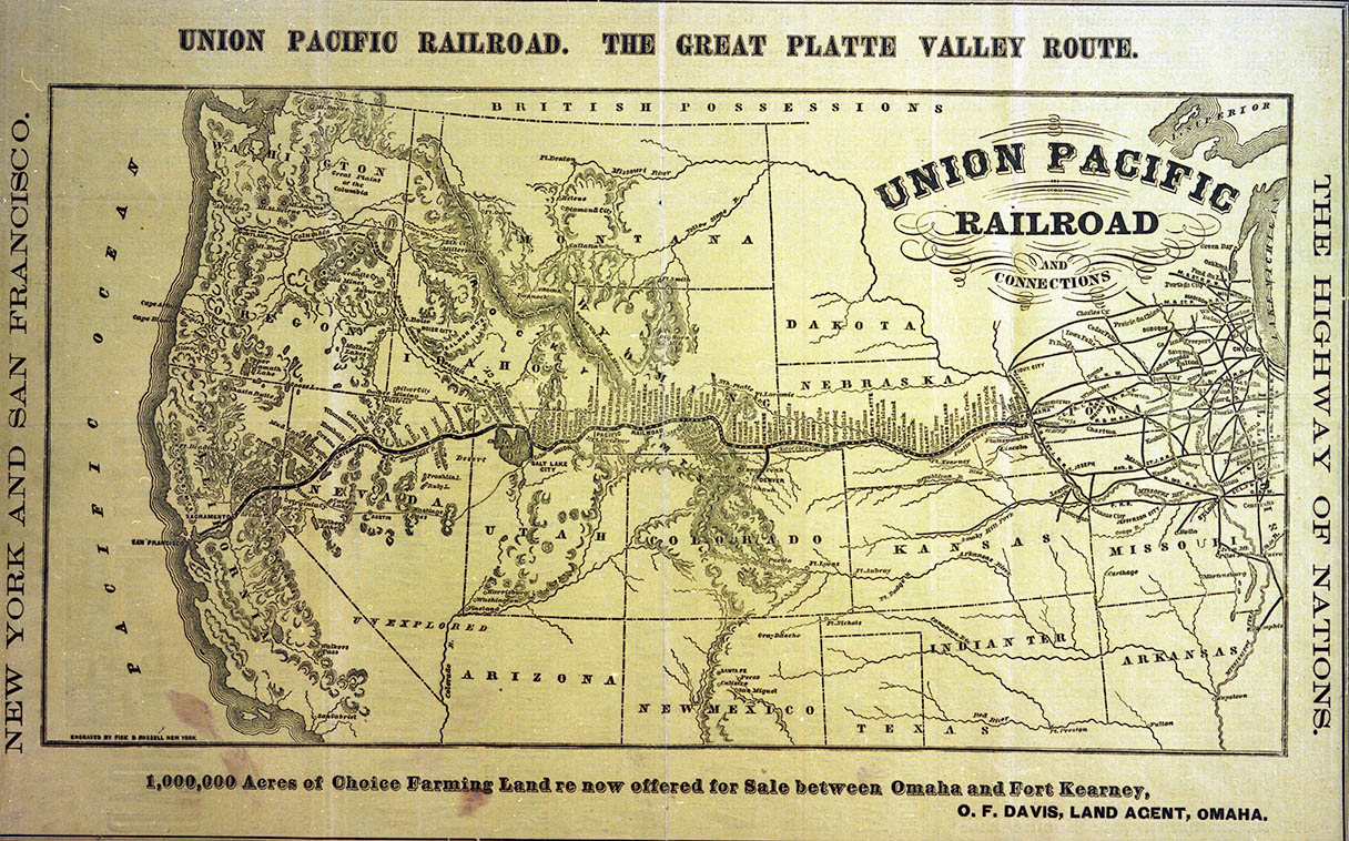 The Railroad Changed Everything - Us-transcontinental-railroad-map